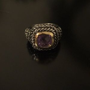 Faux Amethyst Gemstone Ring